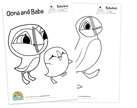 Puffin rock for Puffin coloring pages to print